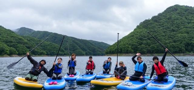 【2016/8/27(土),28(日)】夏休み!広大なダム湖でゆったり自由にSUP体験