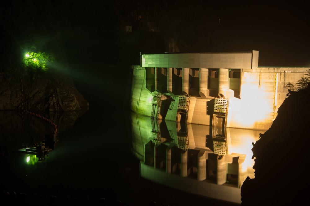 【10/21(土)】振替決定!秋の夜の「川俣ダムライトアップ&星空観察」夕暮れキャットウォークも