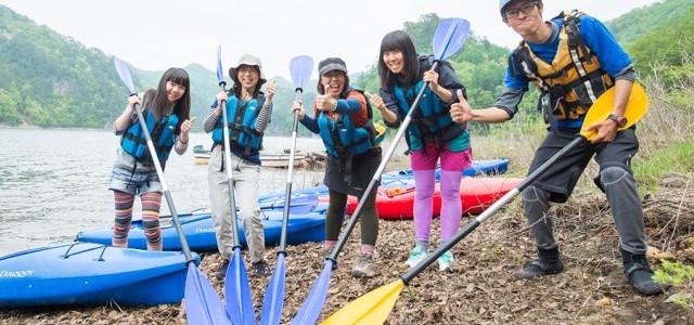 【2016① 川俣湖カヌー体験レポ】広大なダム湖を自由に冒険。新緑に囲まれたカヌー体験