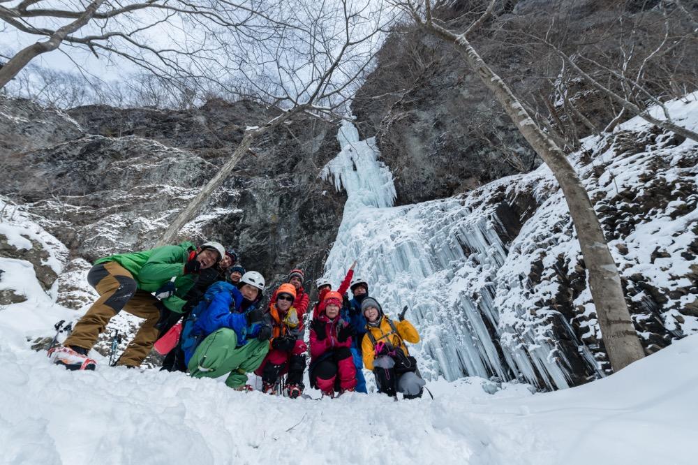 【2/16(土)】日光の隠れ氷爆 夫婦滝スノートレッキング