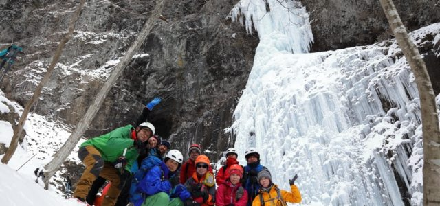 【2017 夫婦滝スノートレッキングレポ】困難も楽しみに変えちゃうみんなのパワーと、極上の氷瀑