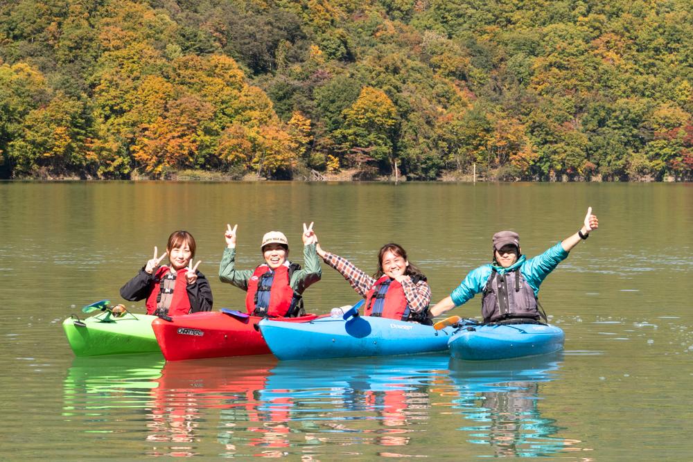 【川俣湖カヌーレポ(紅葉)】絶景完全貸切モード→「また仕事がんばれそうです」
